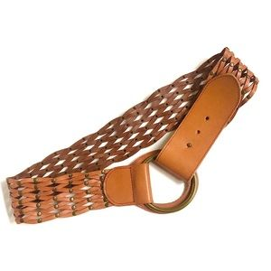 Linea Pelle Woven Leather Hip Belt